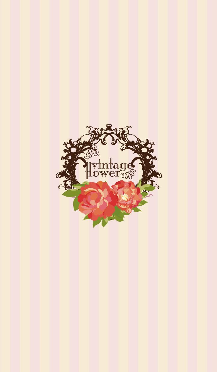 ธีมไลน์ vintage flower