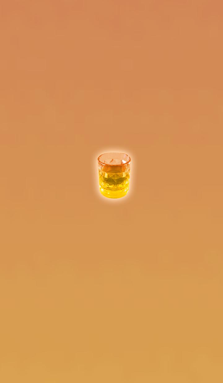 ธีมไลน์ Adult orange glasses