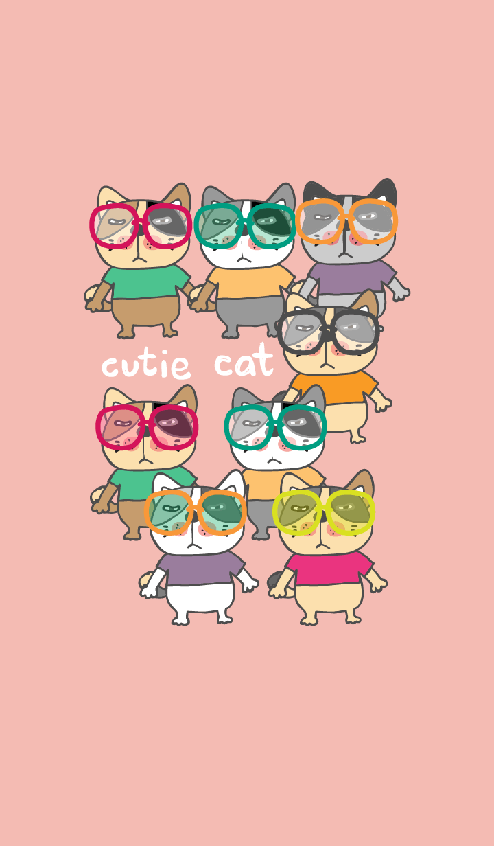 ธีมไลน์ Colorful day 7 (Cutie Cat)