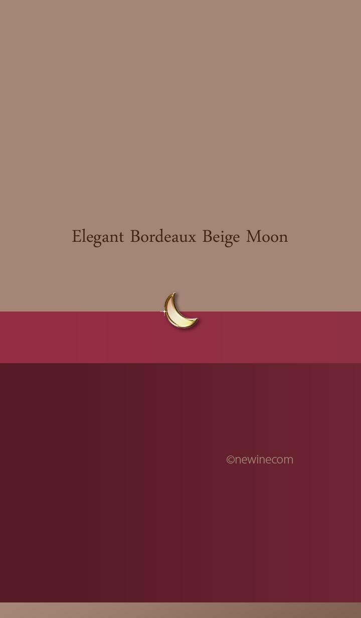 ธีมไลน์ Elegant Bordeaux Beige Moon