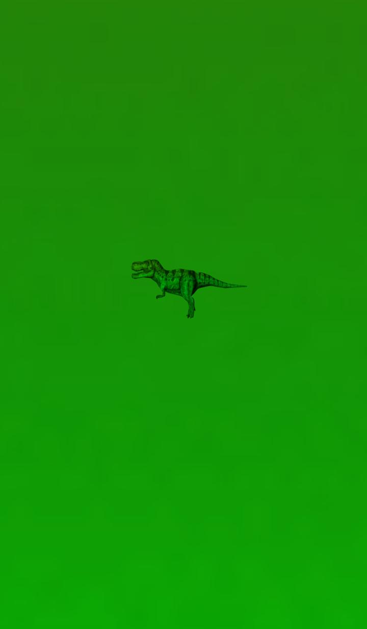 ธีมไลน์ Deep Green Simple Dinosaur