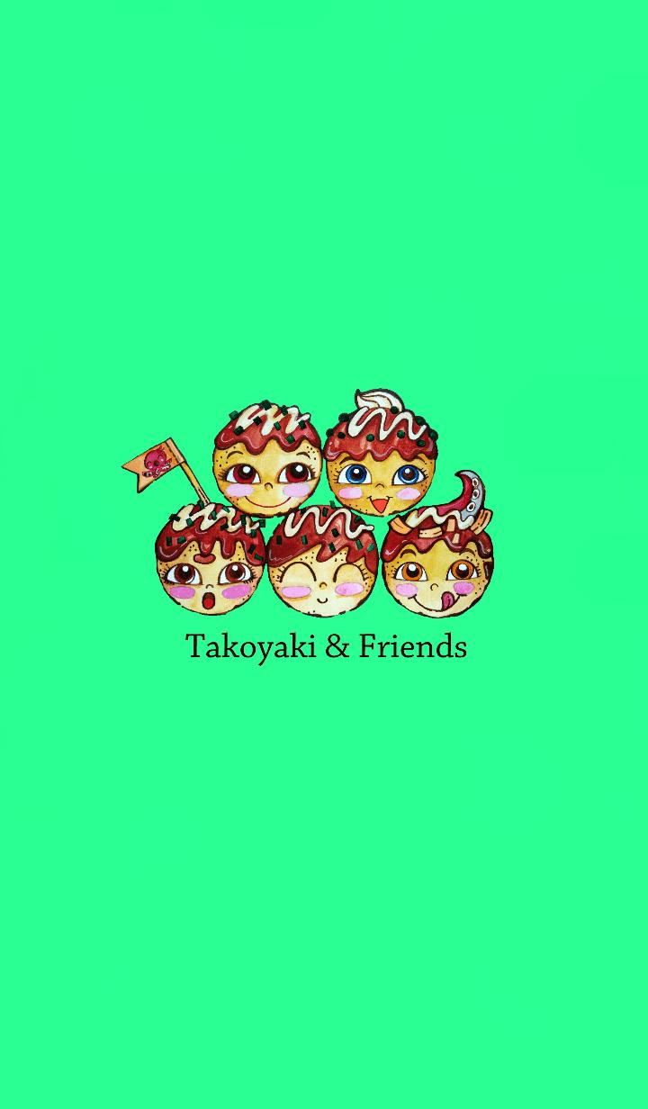 ธีมไลน์ Takoyaki&Friends