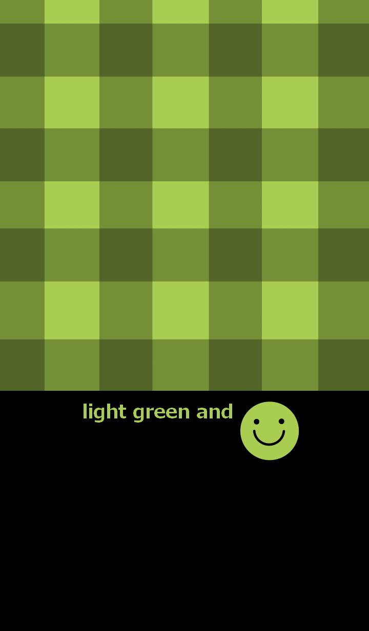 ธีมไลน์ Check pattern and smile 7