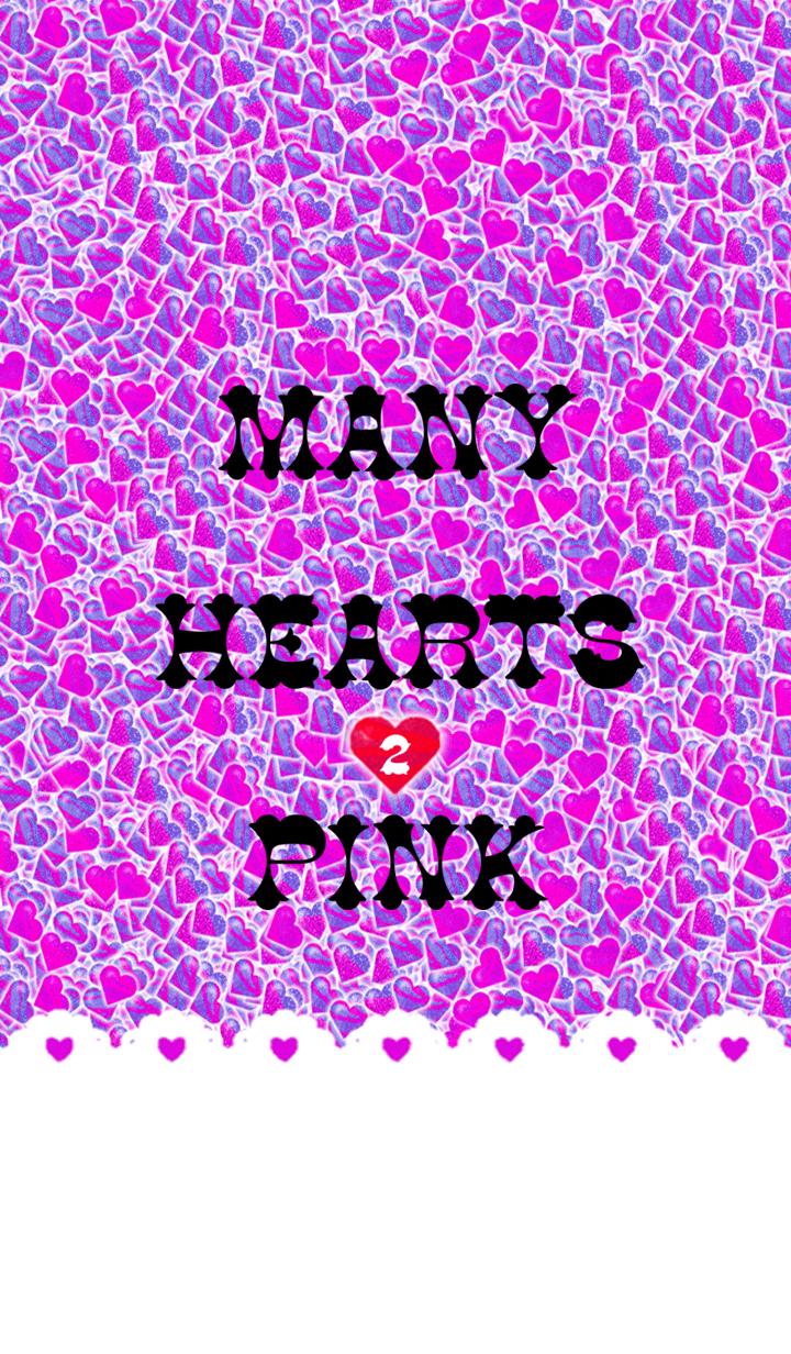 ธีมไลน์ MANY HEARTS PINK 2
