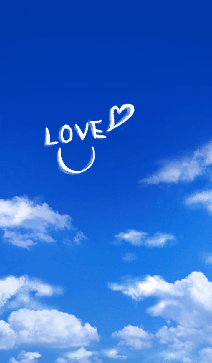 ธีมไลน์ Love Smile in the Blue Sky