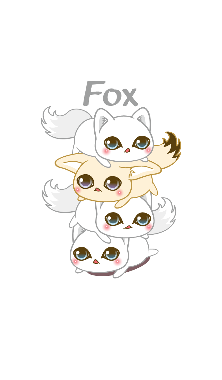 ธีมไลน์ Arctic Fox as white as snow Theme 2