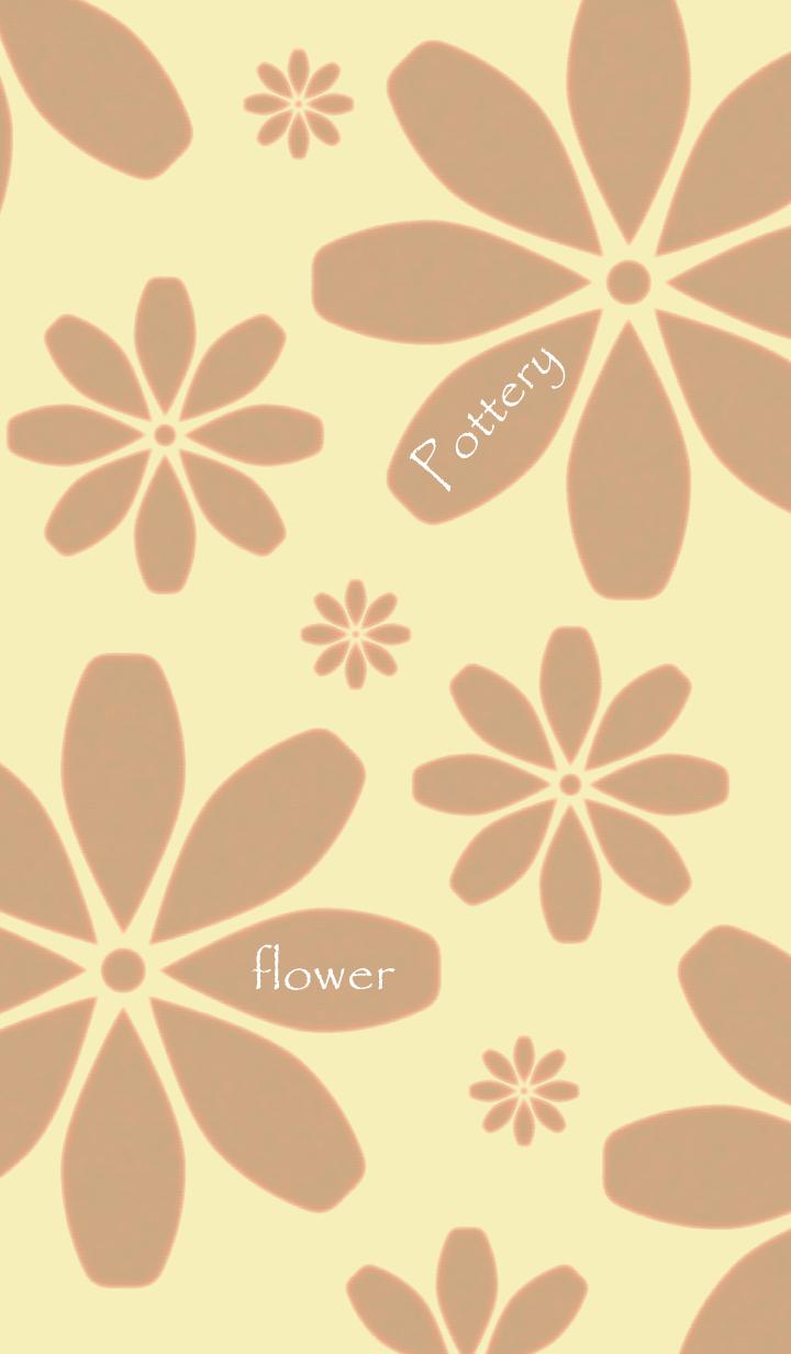 ธีมไลน์ Pottery flower