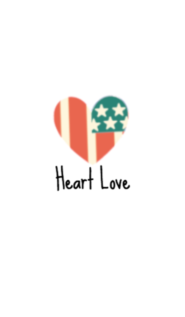 ธีมไลน์ Heart Love (The Star-Spangled Banner)