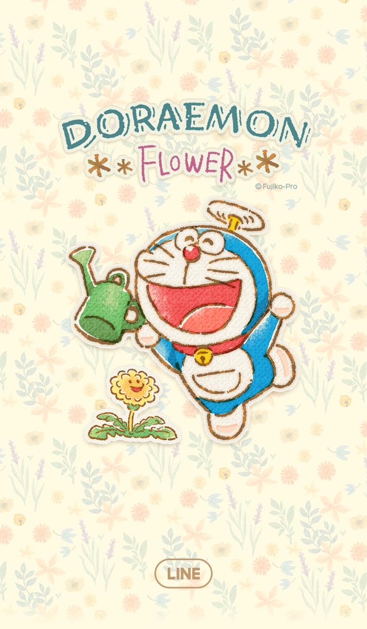 ธีมไลน์ โดราเอมอน ดอกไม้