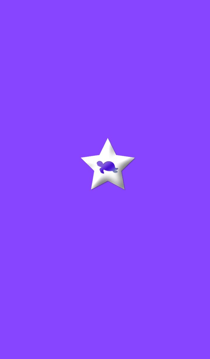 ธีมไลน์ Purple Turtle to be lucky