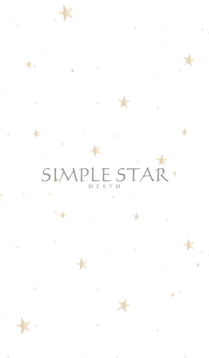 ธีมไลน์ SIMPLE STAR -NATURAL WHITE GOLD-