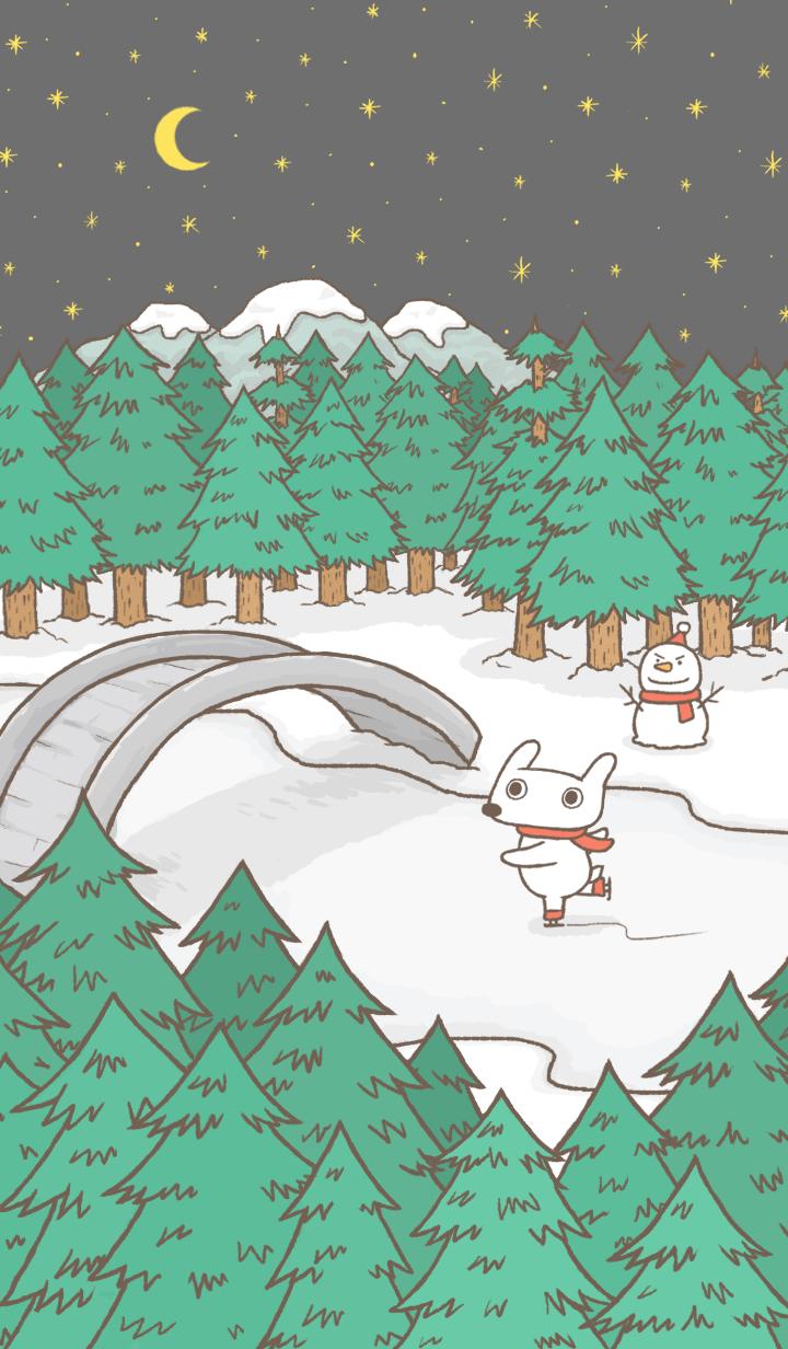 ธีมไลน์ Hey Bu!-Winter Night
