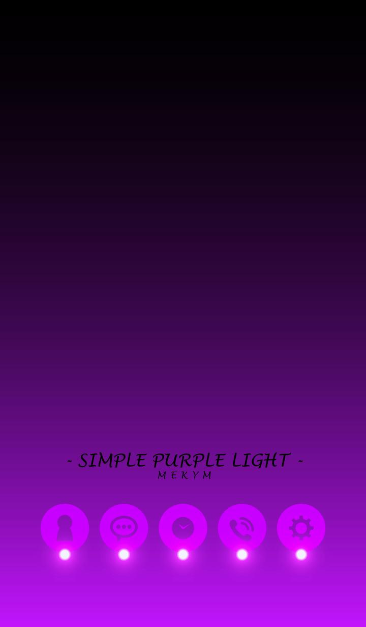 ธีมไลน์ - SIMPLE PURPLE LIGHT -