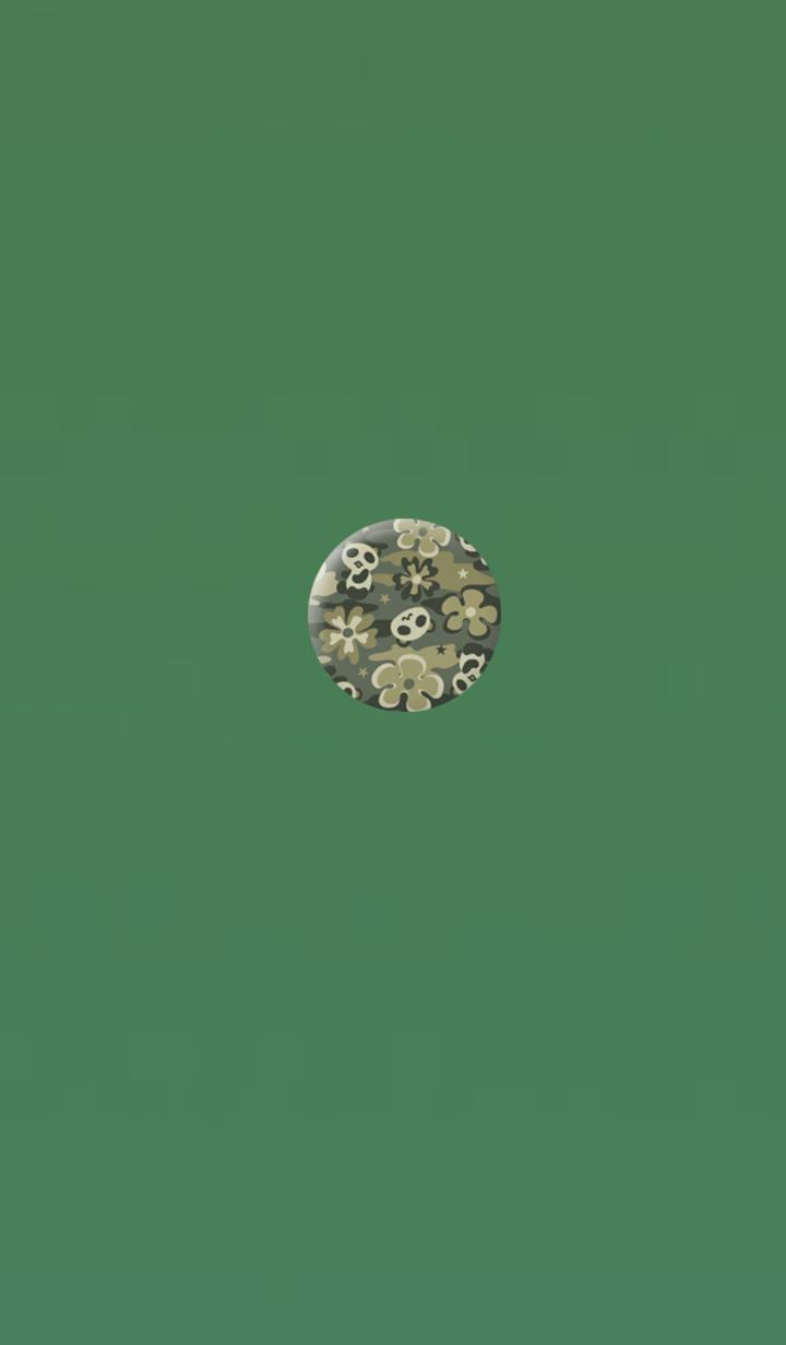 ธีมไลน์ Cute fancy panda green