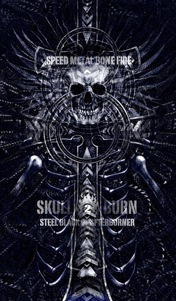ธีมไลน์ Skull burn 2
