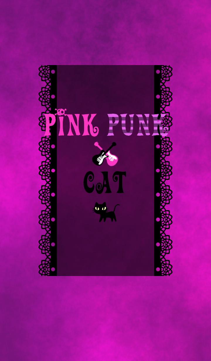 ธีมไลน์ Pink punk cat