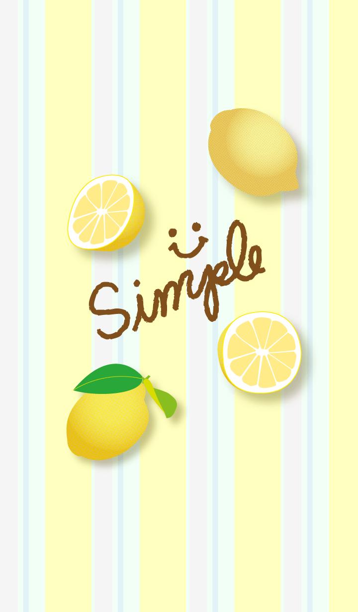 ธีมไลน์ Smile - lemon pattern26-