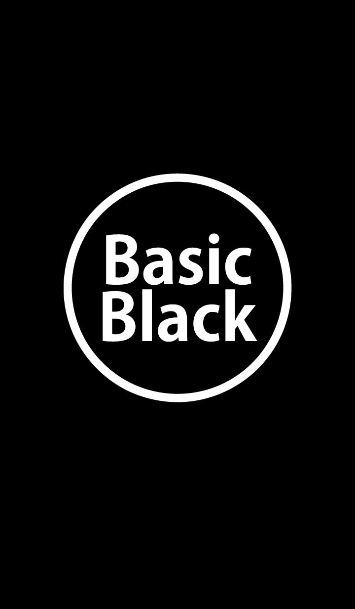 ธีมไลน์ Basic Black