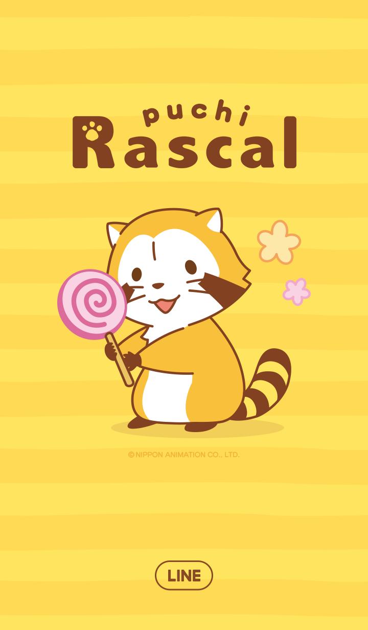 ธีมไลน์ Rascal☆ธีมลายทาง