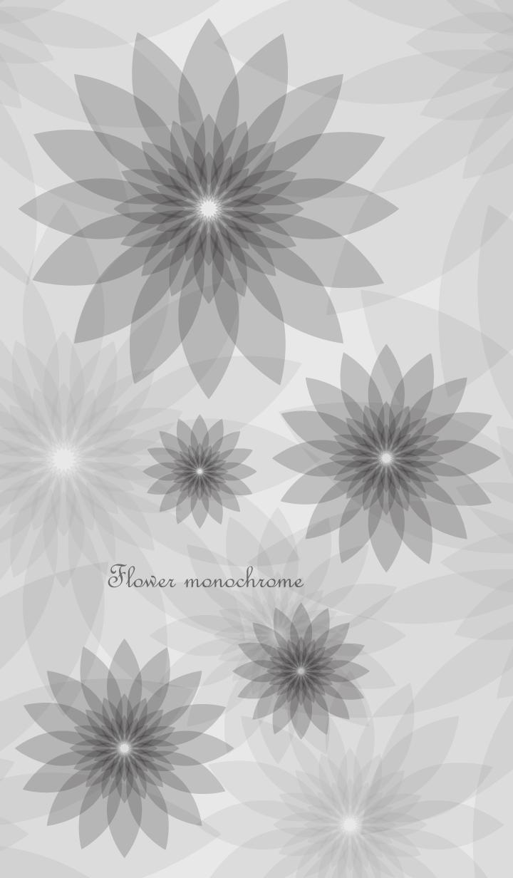 ธีมไลน์ Flower monochrome