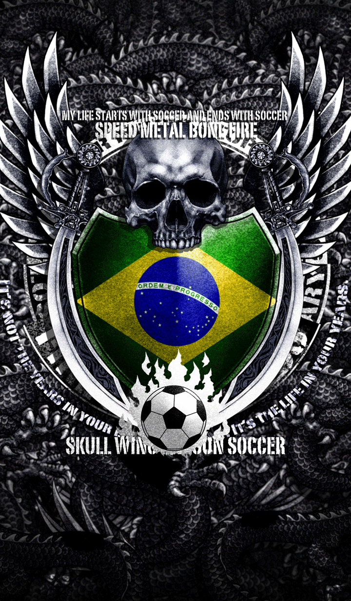 ธีมไลน์ Skull wing dragon soccer