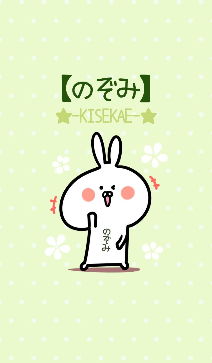 ธีมไลน์ Nozomi usagi green Theme