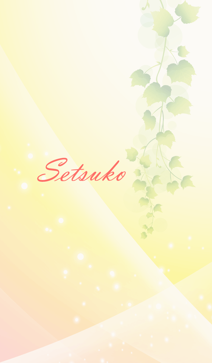 ธีมไลน์ No.1963 Setsuko Lucky Beautiful Theme