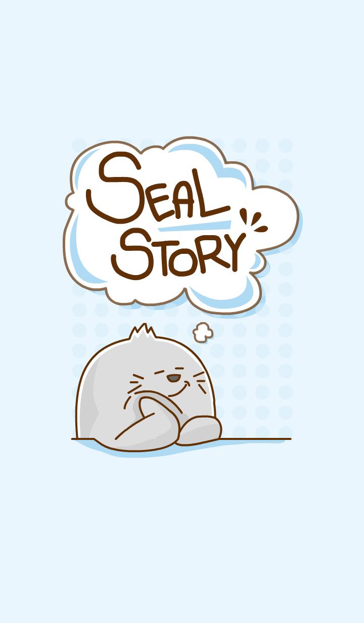 ธีมไลน์ ชีวิตแมวน้ำแสนซน