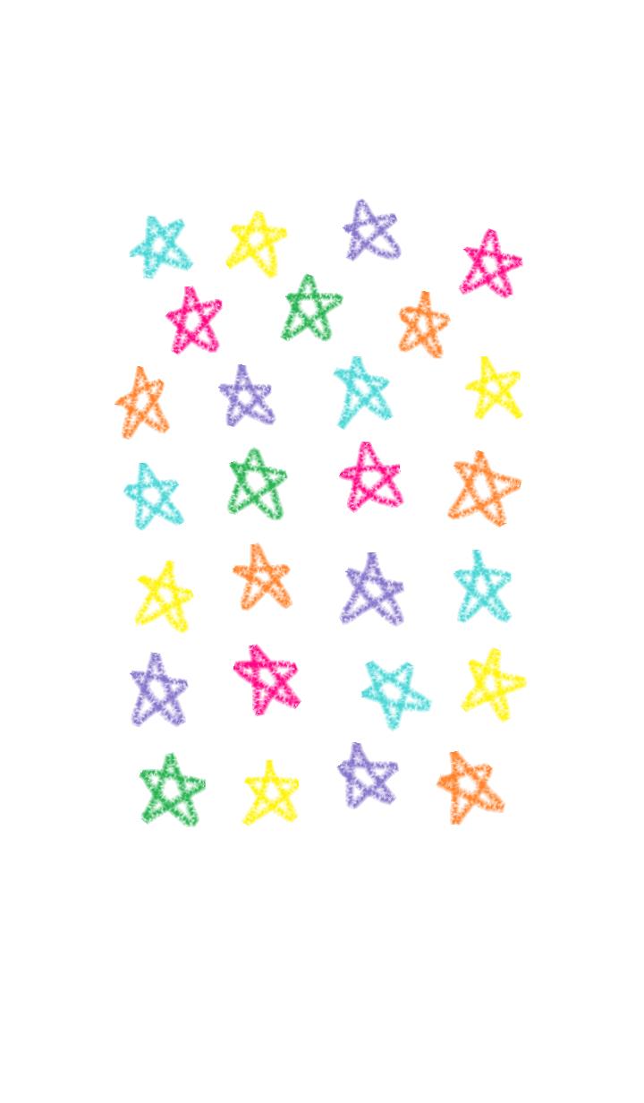 ธีมไลน์ Cute star theme
