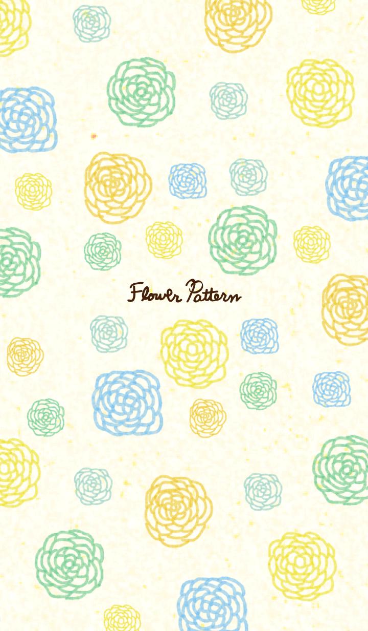 ธีมไลน์ flower pattern13- watercolor-joc
