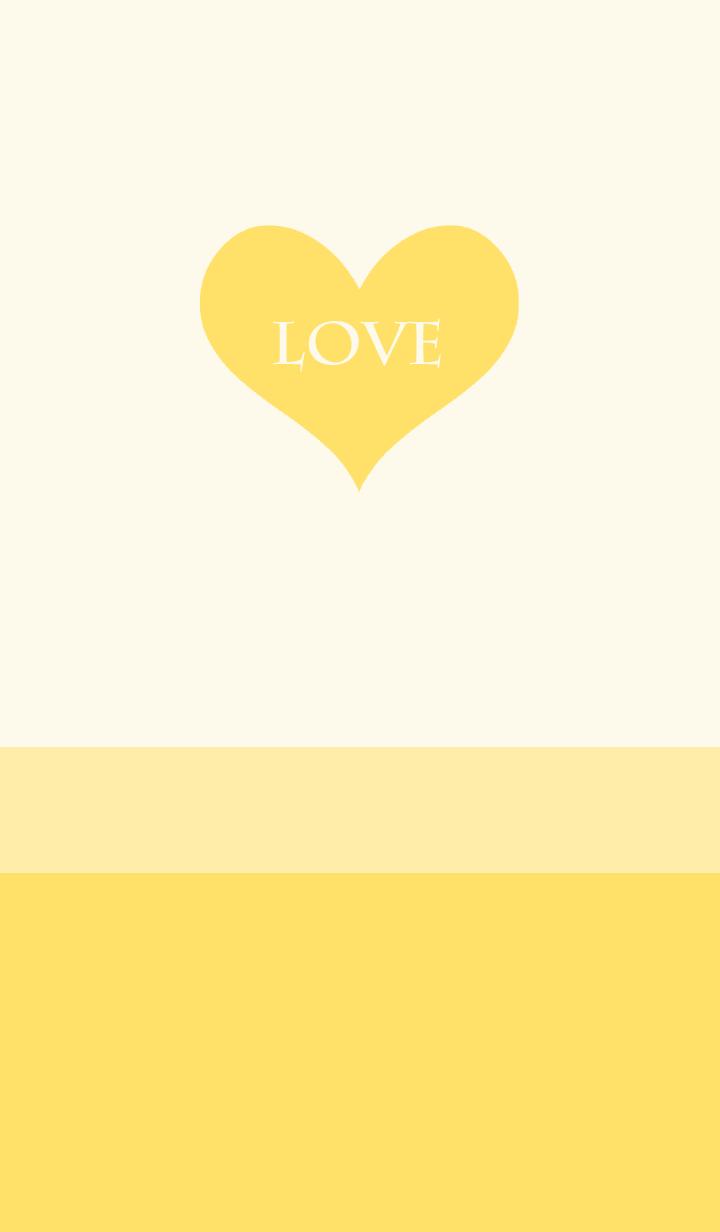 ธีมไลน์ LOVE HEART -YELLOW-