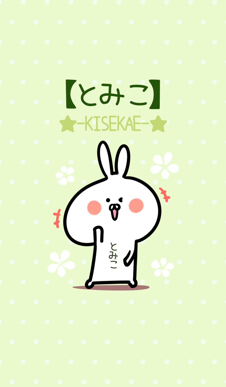 ธีมไลน์ Tomiko usagi green Theme