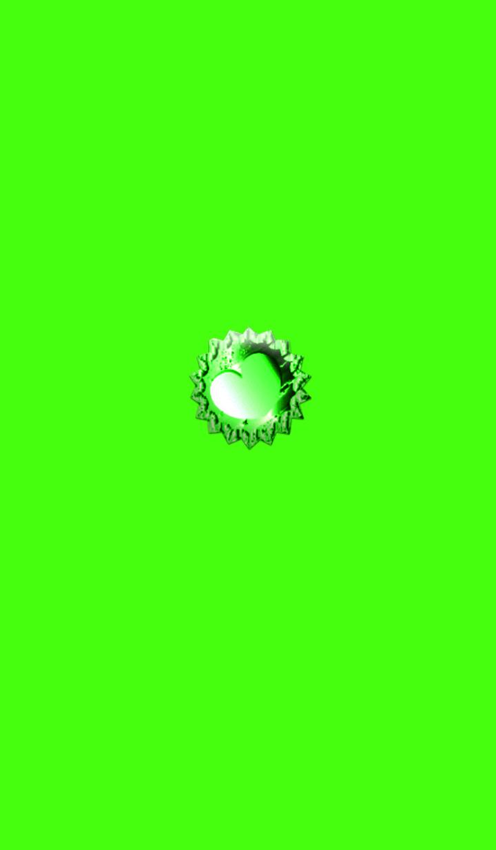 ธีมไลน์ Green Jewelry Heart 2