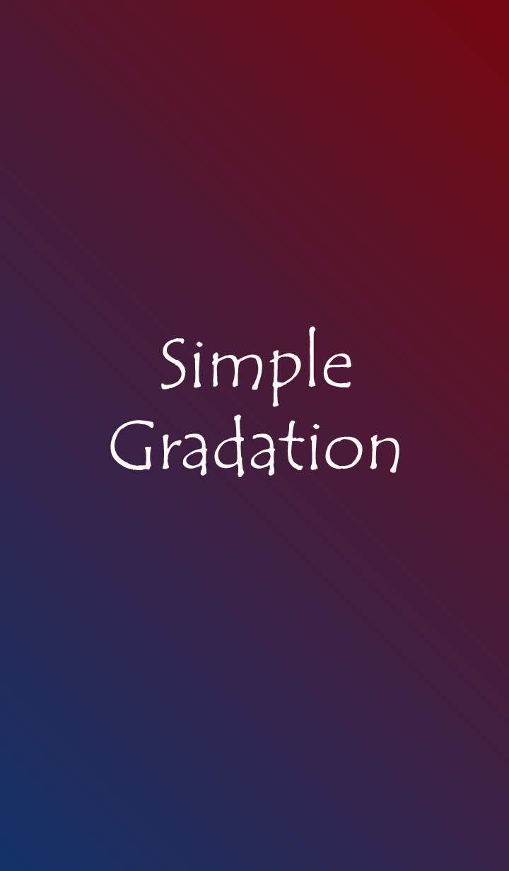 ธีมไลน์ Simple Gradation -BLUE/PURPLE-