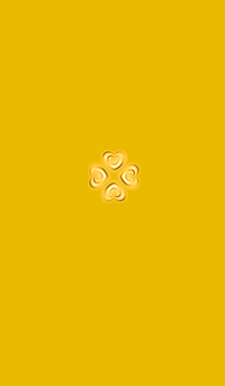ธีมไลน์ Yellow Clover with love