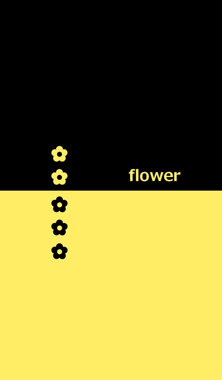 ธีมไลน์ Flower and two tone color 4