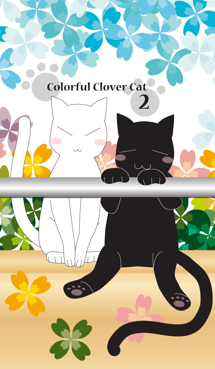 ธีมไลน์ Colorful Clover Cat Vol.2