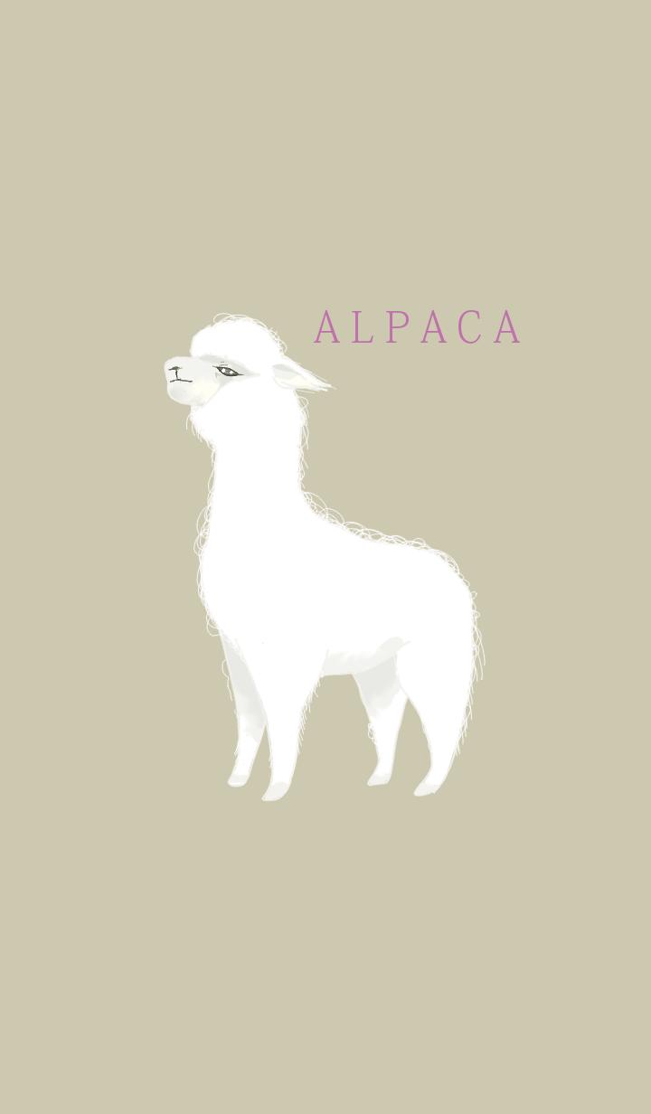 ธีมไลน์ White alpaca
