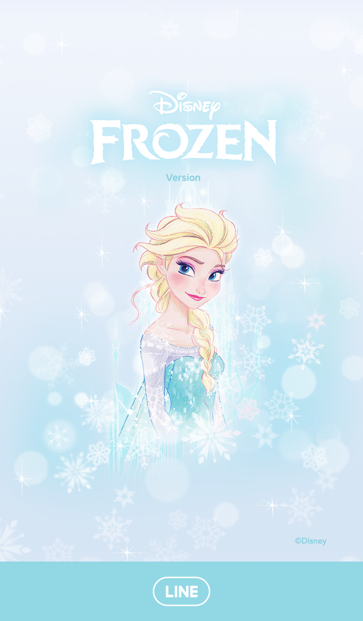 ธีมไลน์ Frozen เอลซ่า