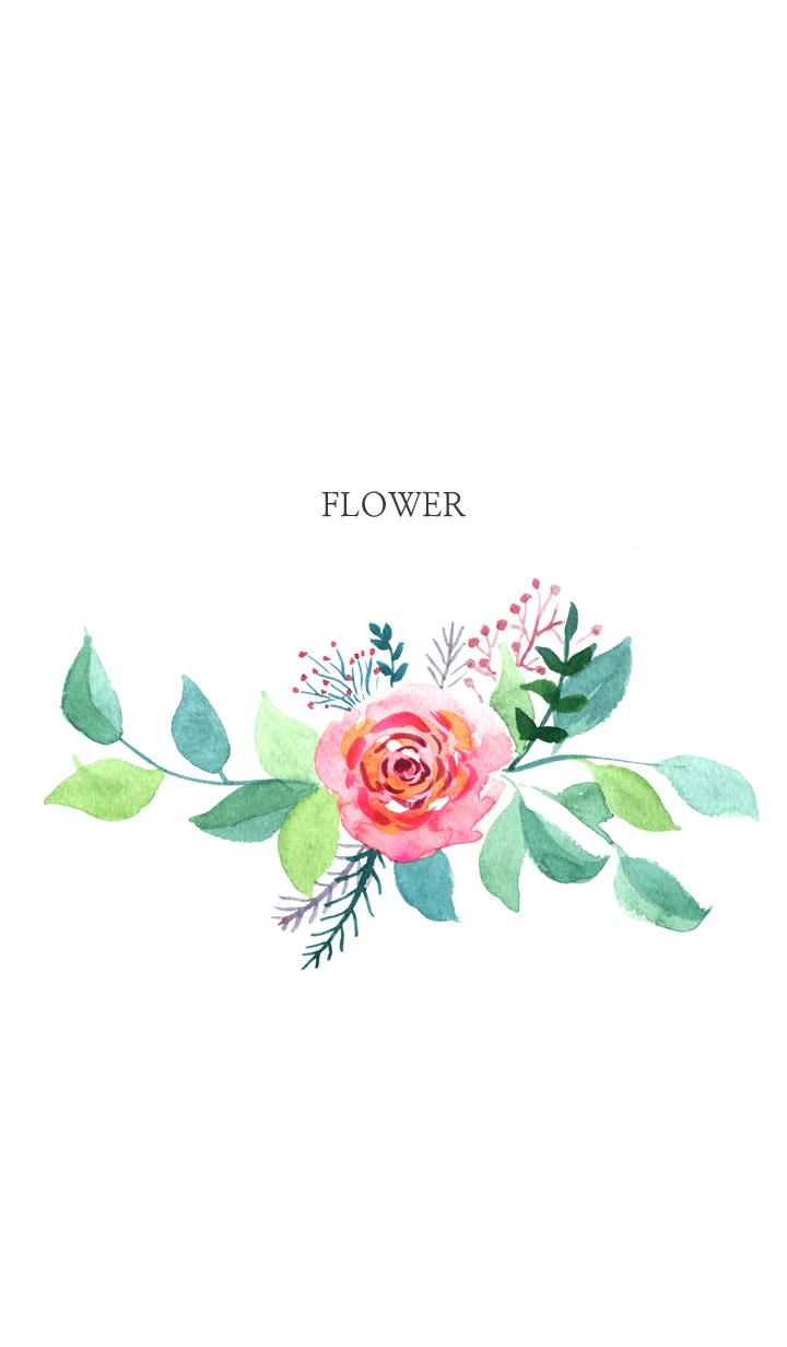ธีมไลน์ water color flowers_22