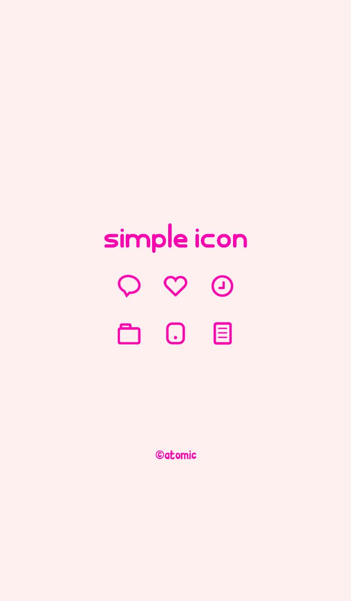 ธีมไลน์ Simple icon [PINK] No.116