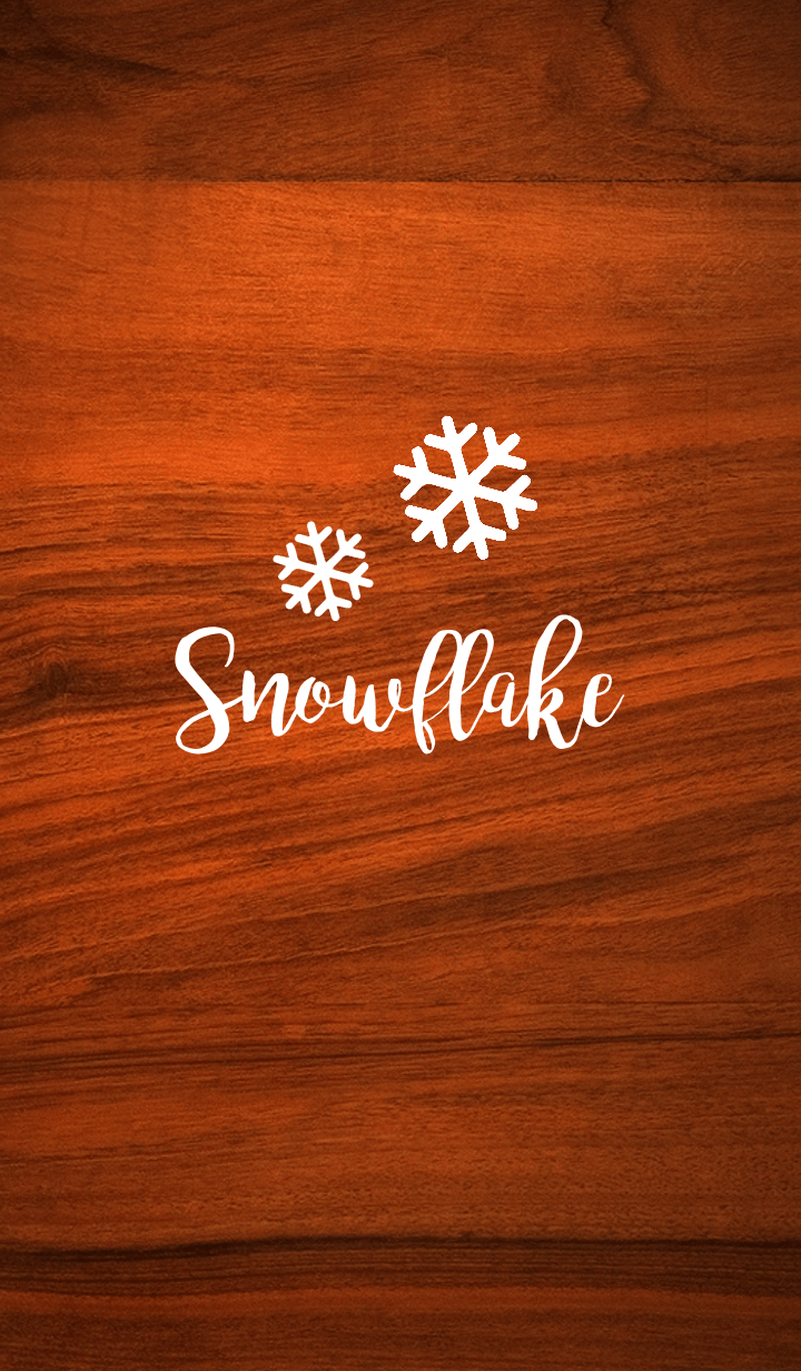 ธีมไลน์ Wood (Snowflake Edition)