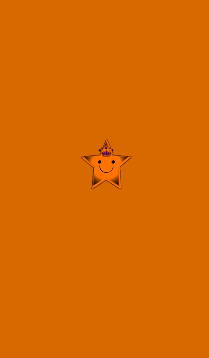 ธีมไลน์ Orange simple star