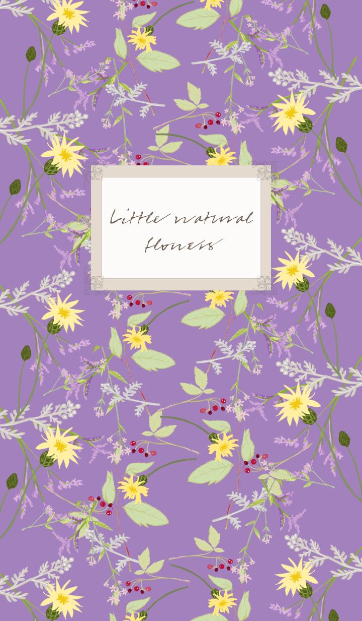 ธีมไลน์ Little natural flowers 04