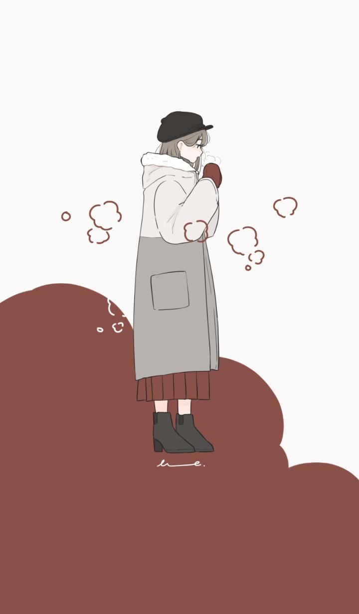 ธีมไลน์ cold breath with warm mittens