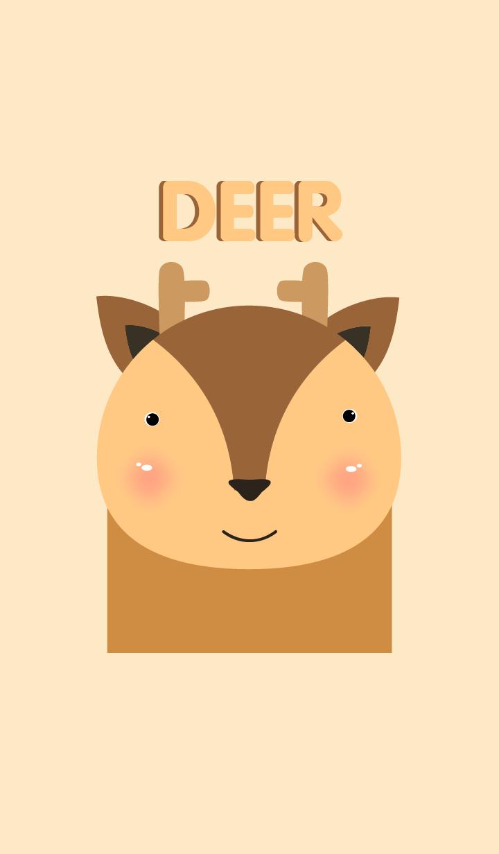 ธีมไลน์ Simple deer theme