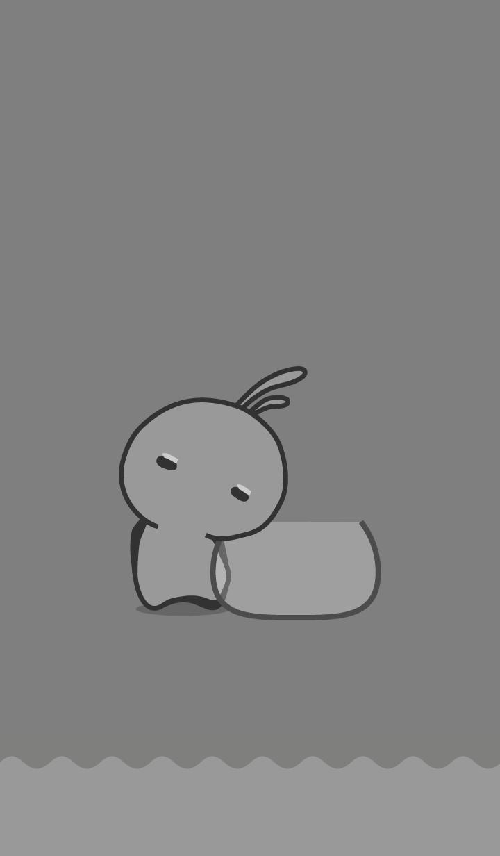 ธีมไลน์ rabbit staring-67
