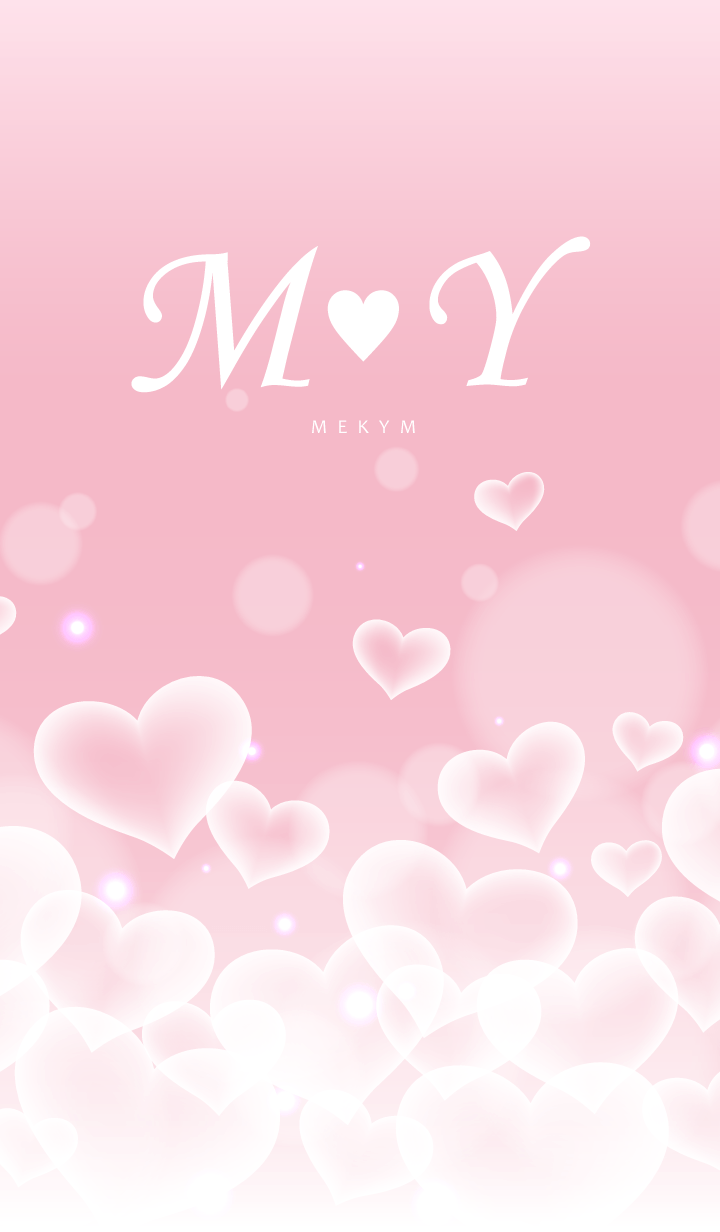 ธีมไลน์ Initial -M&Y- Heart cloud