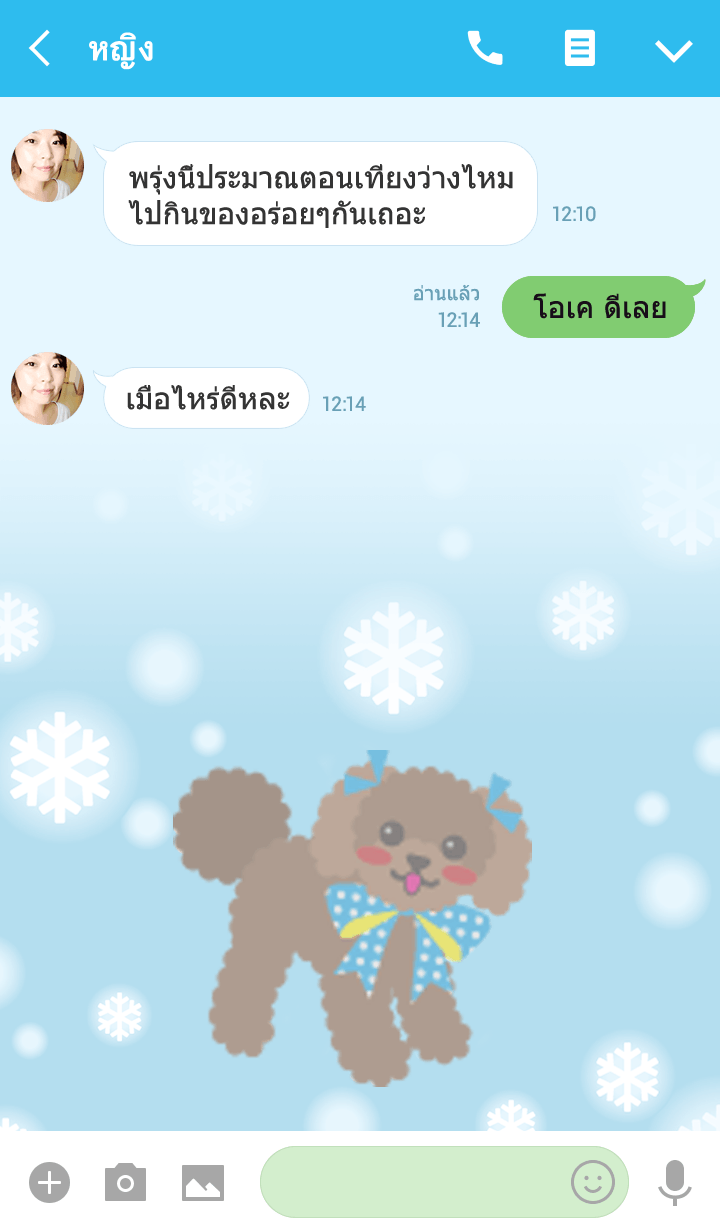 ธีมไลน์ RUBY'S FRIEND[toy poodle/apricot]