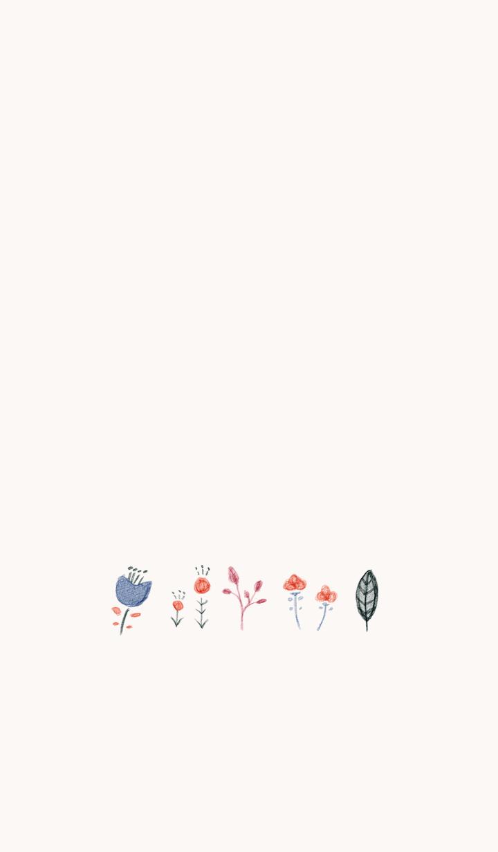 ธีมไลน์ otona cawaii suisai Flower 2